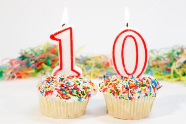 Torta decimo anniversario - Blog