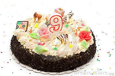 Torta nono anniversario - 9 anni torta