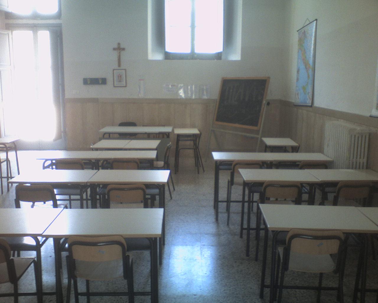 Scuola: il vuoto. - Desolante
