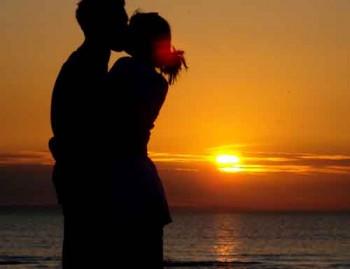 Bacio - Amore - Tramonto
