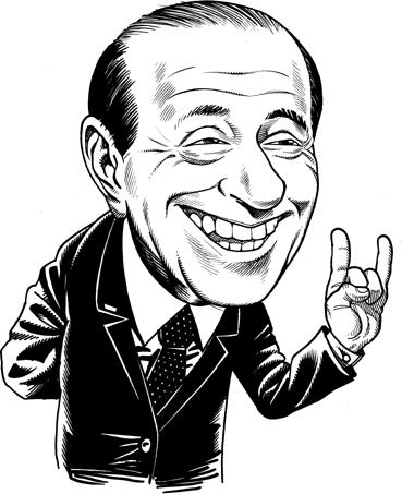 Silvio Berlusconi - Vignetta