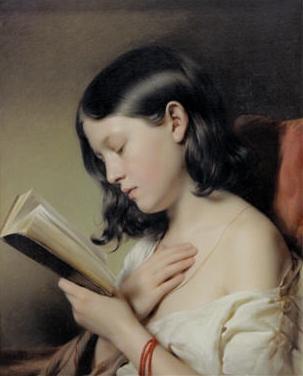 ragazzine che legge