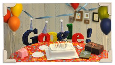 13 Anniversario di Google