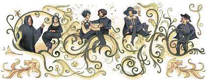 Google - Doodle del giorno 07 Marzo 2012  227esimo anniversario nascita di Alessandro Manzoni