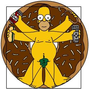 Homer Simpson Vitruviano