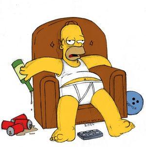 Homer simpson in mutande