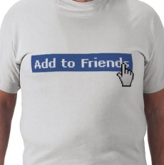 Maglietta amicizia Facebook