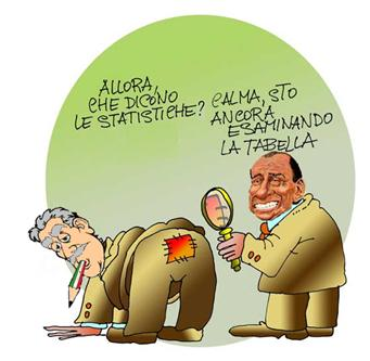 Tasche vuote Berlusconi