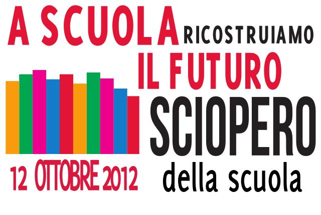 Sciopero scuola - 12 ottobre 2012