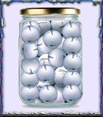 Barattolo palline da golf